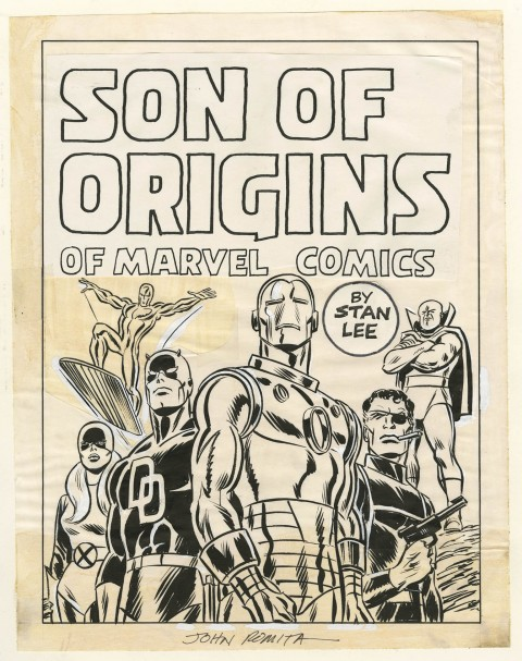 Sons Of Origins preliminary cover by John Romita.  Source.