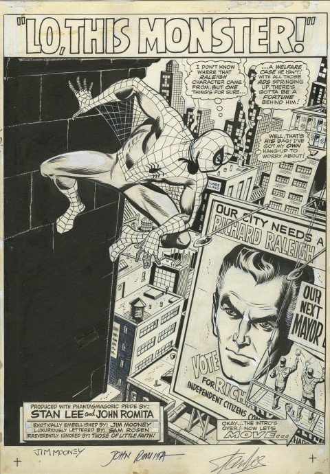 Spectacular Spider-Man Magazine issue 1 splash by John Romita.  Source.