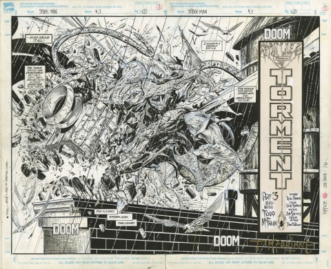 Spider-Man issue 3 splash by Todd McFarlane.  Source.