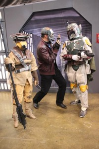 Star-Lord getting the stare-down from Boba Fett (photo credit Dr. Stevil)