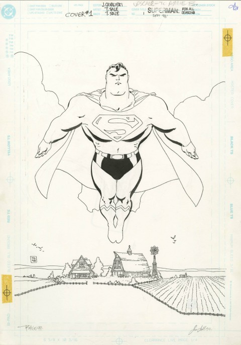 Superman: For All Seasons issue 1 cover by Tim Sale.  Source.