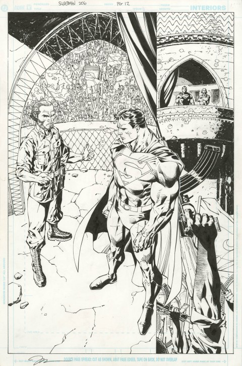 Superman issue 206 page 12 by Jim Lee and Scott Williams.  Source.