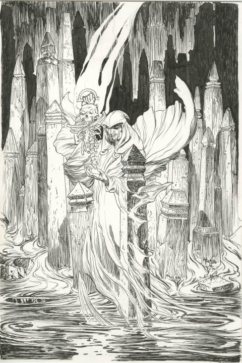 Tales Of The Unexpected issue 2 cover by Michael Kaluta.  Source.