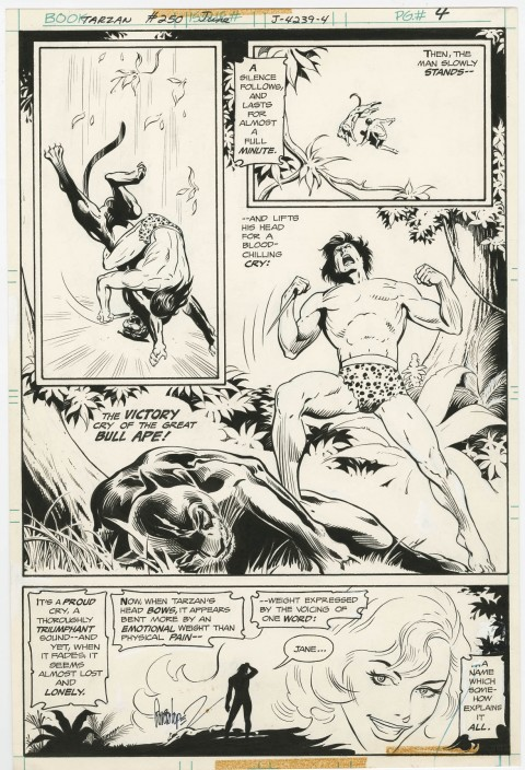 Tarzan issue 250 page 4 by Jose Luis Garcia-Lopez and Redondo Studio.  Source.