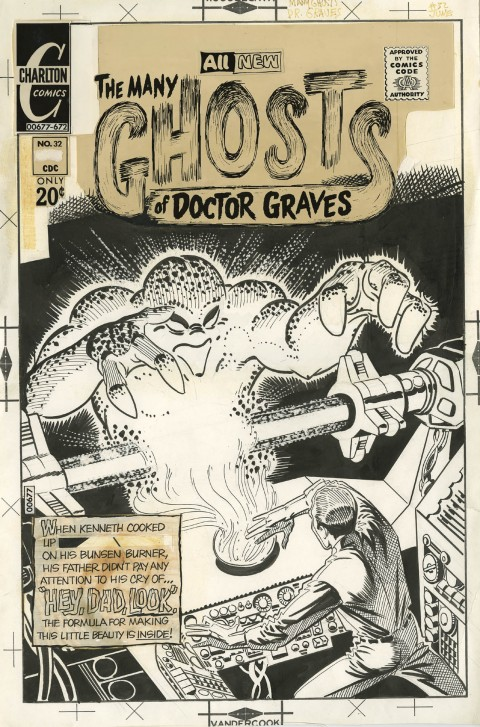 The Many Ghosts Of Doctor Graves issue 32 cover by Steve Ditko.  Source.