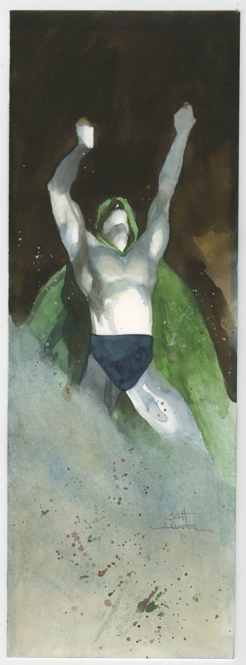 The Spectre by Scott Hampton.  Source.