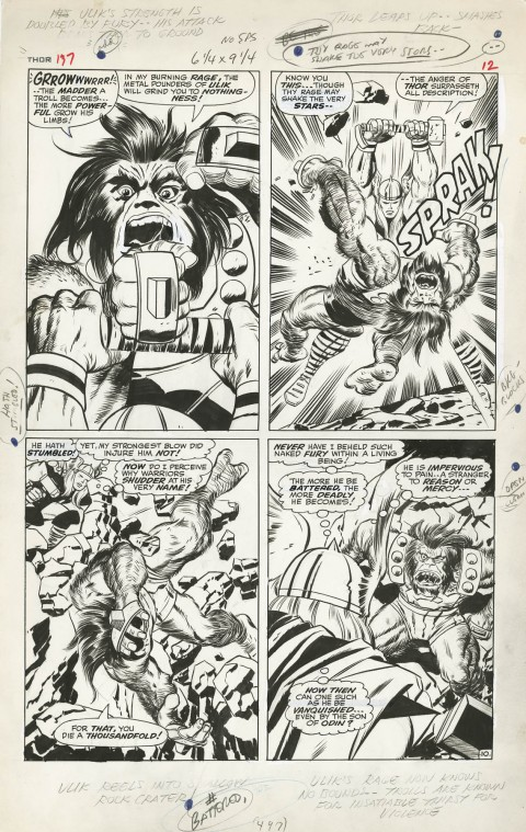 Thor issue 137 page 10 by Jack Kirby and Vince Colletta.  Source.