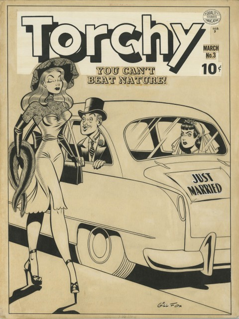 Torchy issue 3 cover by Gill Fox.  Source.