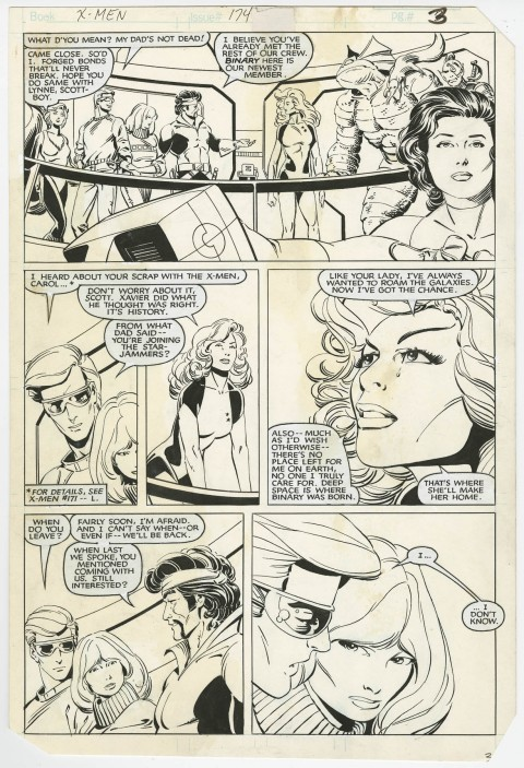 Uncanny X-Men issue 174 page 3 by Paul Smith and Bob Wiacek.  Source.