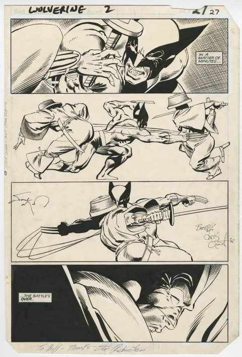 Wolverine issue 2 page 27 by Frank Miller and Joe Rubinstein.  Source.