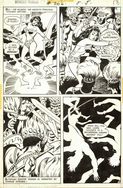 Wonder Woman issue 206 page 14 by Don Heck and Vince Colletta.  Source.