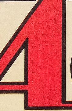 Action Comics Logo up close