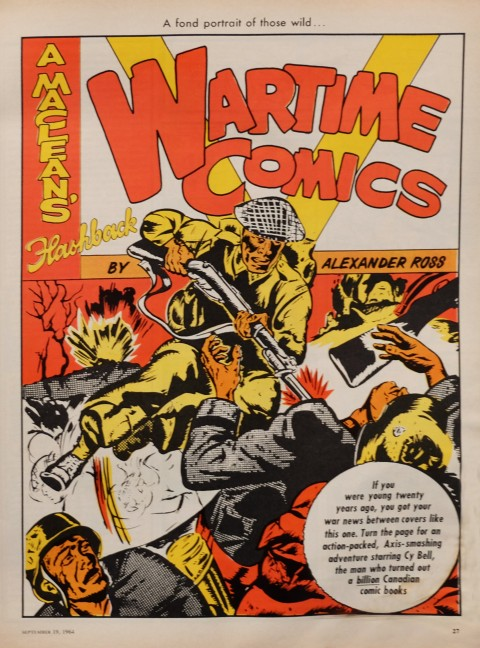 Splash page for the article using the cover from Commando Comics 9