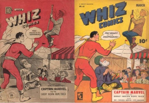 Whiz Comics Vol. 4 No. 6 and Whiz 63