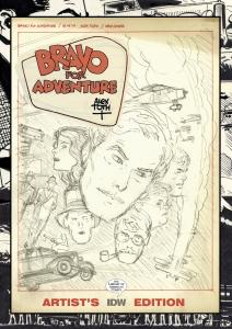 Alex Toth's Bravo For Adventure Artist's Edition cover prelim