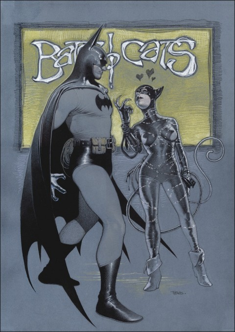 Batman and Catwoman by Travis Charest.  Source.