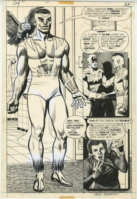 Captain America issue 144 page 15 by Gray Morrow.  Source.
