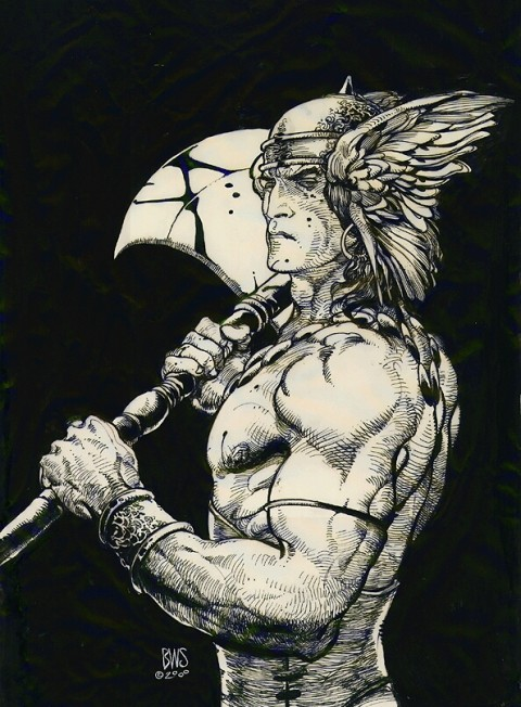 Conan The Barbarian by Barry Windsor-Smith.  Source.