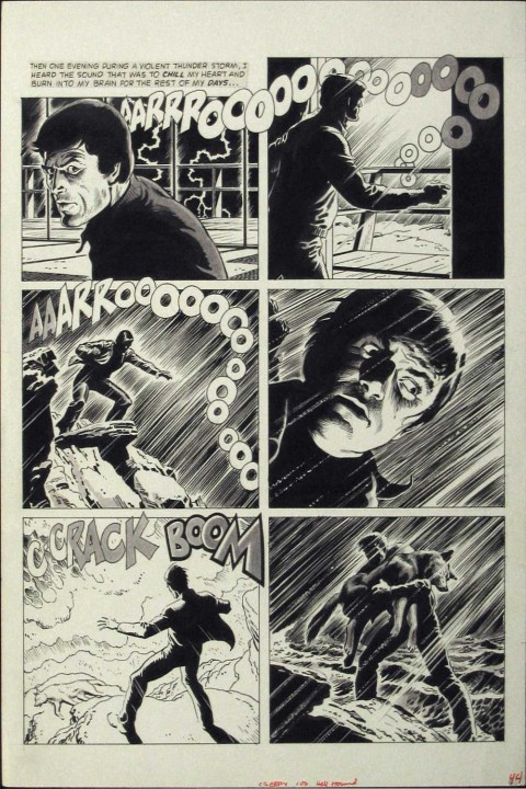 Creepy issue 100 page by Russ Heath.  Source.