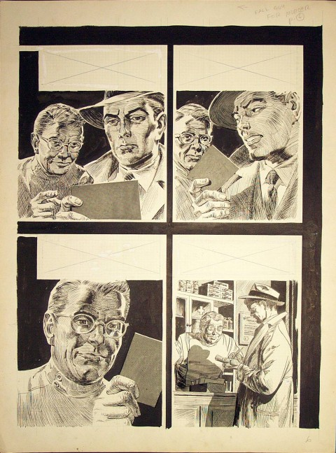 Crime Illustrated issue 1 page 6 by Bernie Krigstein.  Source.