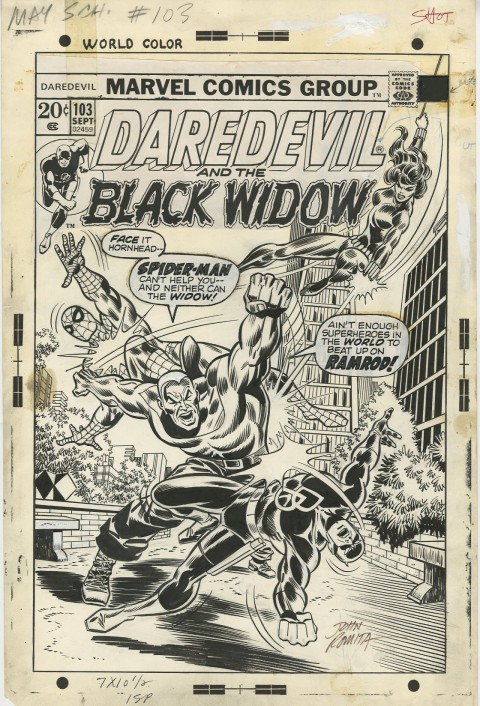 Daredevil issue 103 cover by Don Heck and John Romita.  Source.