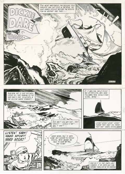 Dickie Dare Sunday 2-1-48 by Mabel Burvik.  Source.