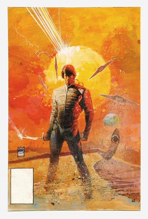 Dune Collected Edition cover by Bill Sienkiewicz.  Source.