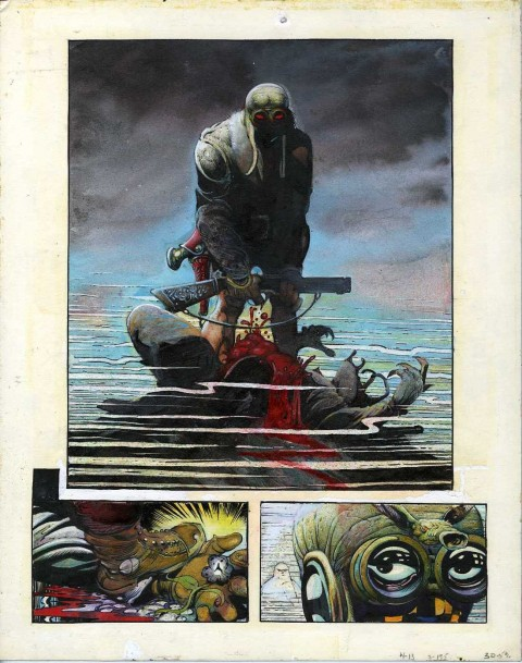 Epic Illustrated issue 8 Cholly and Flytrap page by Arthur Suydam.  Source.