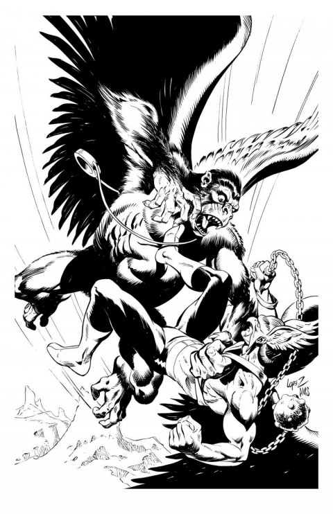 Hawkman by Jose Luis Garcia-Lopez and Paul Smith.  Source.