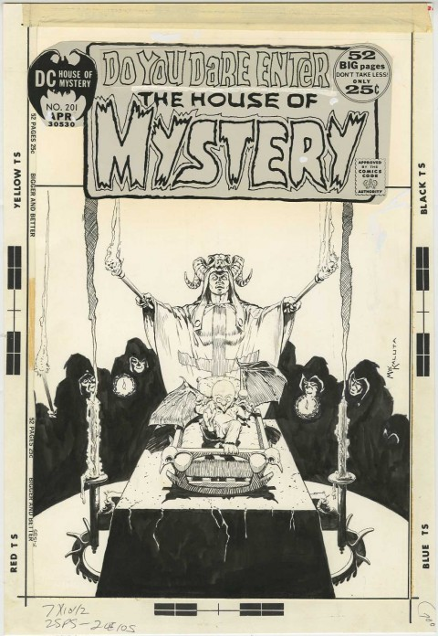 House Of Mystery issue 202 cover by Michael Kaluta.  Source.