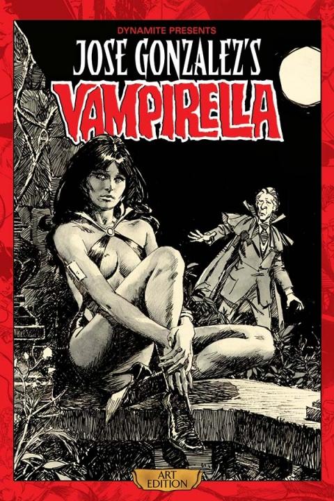 Jose Gonzalez's Vampirella Art Edition prelim cover