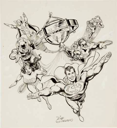 Justice League of America - The Lunar Invaders cover by Dick Giordano.  Source.
