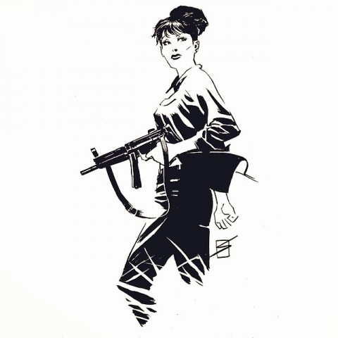 Modesty Blaise by Ron Salas.  Source.