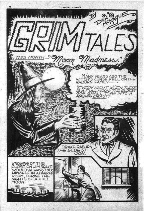 "The second and last ""Grim Tales"" feature from Wow Comics No. 13"