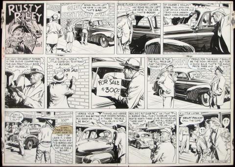Rusty Riley Sunday 7-1-56 by Frank Godwin.  Source.
