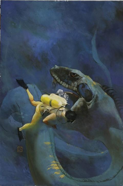 Sea Siege cover by Jeff Jones.  Source.