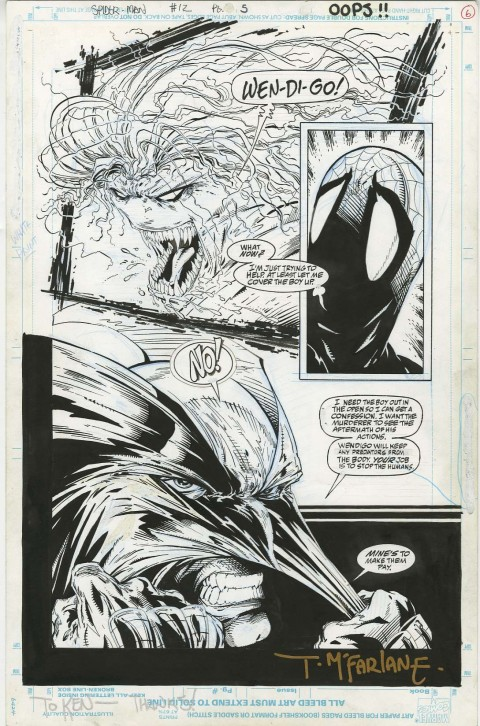 Spider-Man issue 12 page 5 by Todd McFarlane.  Source.