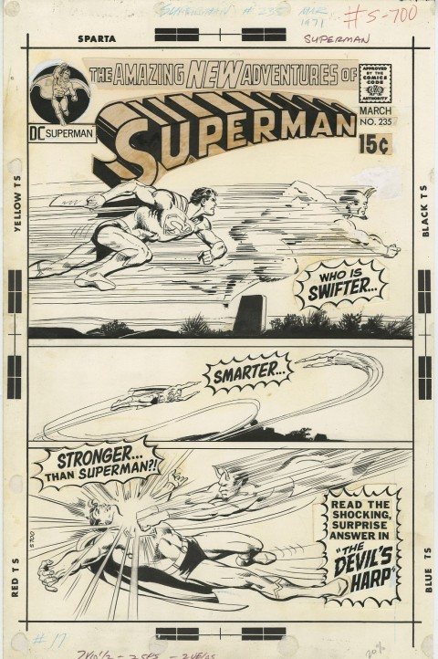 Superman issue 235 cover by Neal Adams.  Source.