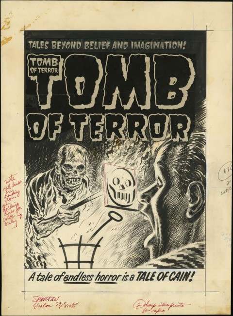 Tomb of Terror issue 12 cover by Lee Elias.  Source.