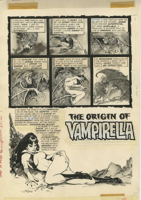 Vampirella Annual issue 1 page 3 by Jose Gonzalez.  Source.