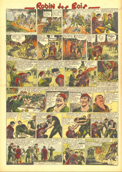 The first set of Robin Hood dailies reprinted in L'Aventureux V. 2 No. 31, August 7, 1937