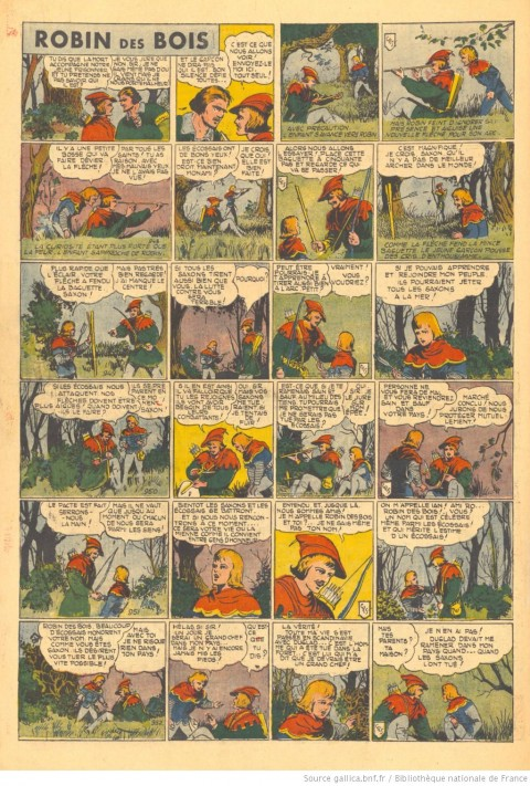 """L'Aventureux V. 5 n. 16, April 21 1940. You can see the """"CRS"""" monogram on the third or  fourth panel of every daily."""