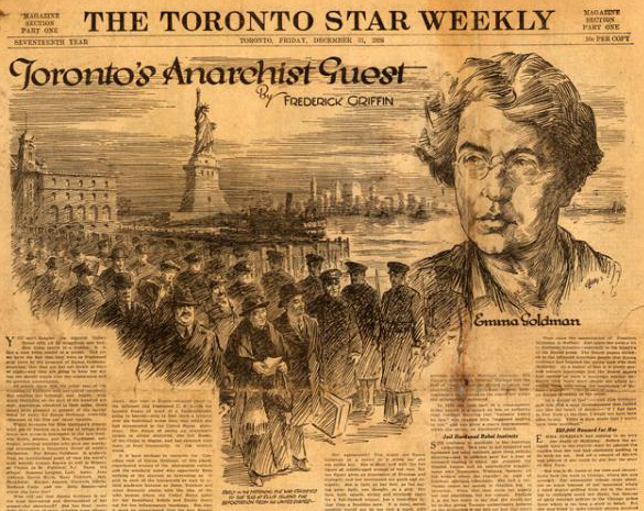Fred Griffin front pager for the Toronto Star from the 1920s.