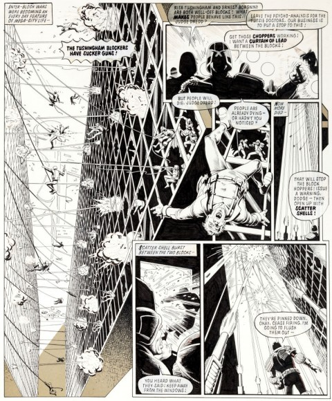 2000 AD Prog 182 page 4 by Brian Bolland.  Source.