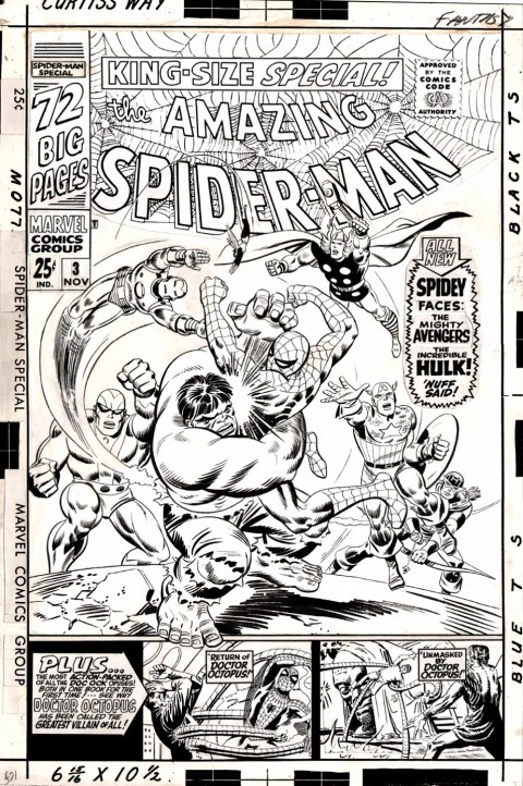 Amazing Spider-Man Annual 3 cover by John Romita and Mike Esposito