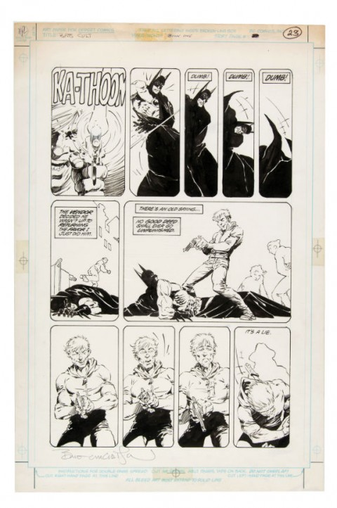 Batman: The Cult issue 1 page 23 by Berni Wrightson.  Source.