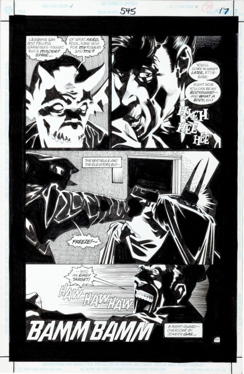 Batman issue 545 page 17 by Kelley Jones and John Beatty.  Source.