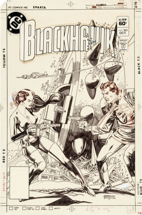 Blackhawk issue 263 cover by Gil Kane.  Source.