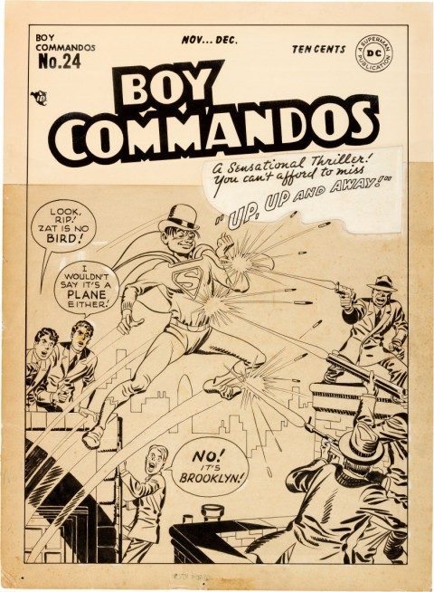 Boy Commandos issue 24 cover by Jack Kirby.  Source.