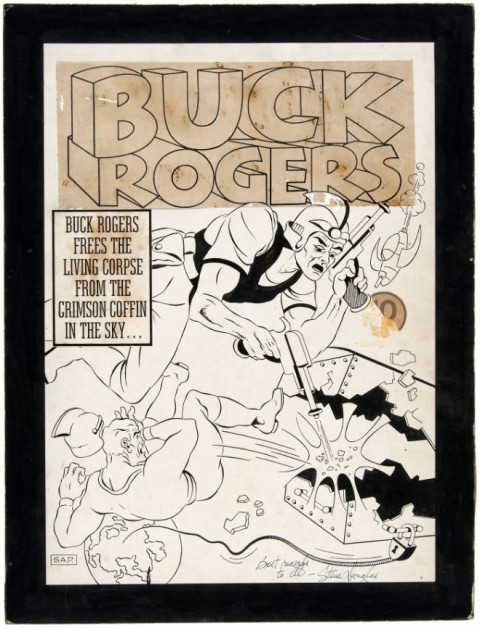 Buck Rogers issue 3 cover by Stephen Douglas.  Source.